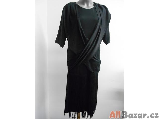 Společenské černé šaty VEL 36 odpovídá M