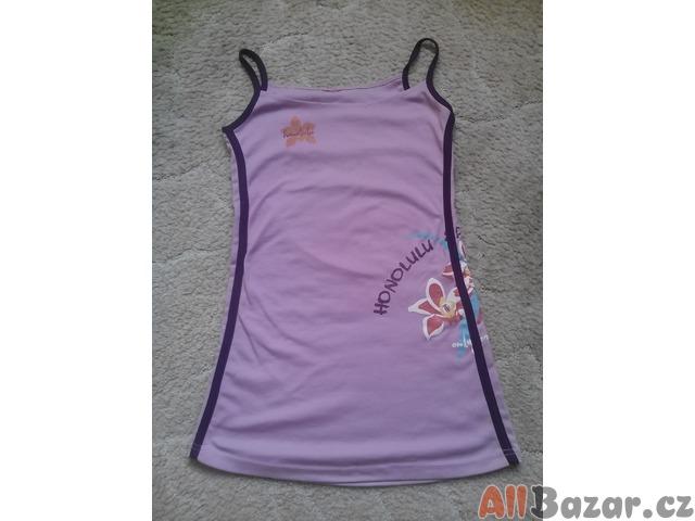 fialové bavlněné šaty