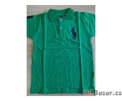 Dětské polo triko - zelené - velikost 4 - 5 let