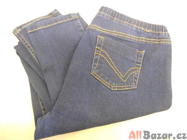 Dámské džíny tmavě modré F&F vel. 16 elastické