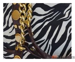 Dámská kabelka italské značky, vzor zebra - NOVÁ