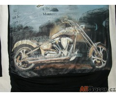 Nádherné dlouhé triko s motorkou a kamínky