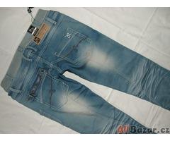 Luxusní bokové jeans s dvojitým pasem - NOVÉ - 30