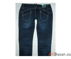 Nádherné tmavě prošívané bokové jeansy - NOVÉ - 30