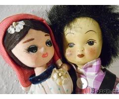 Staré japonské porcelánové panenky - tanečníci
