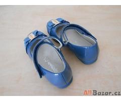Dětské dívčí baleríny modré VEL 27