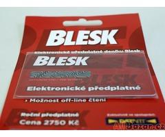 předplatné časopisu Blesk