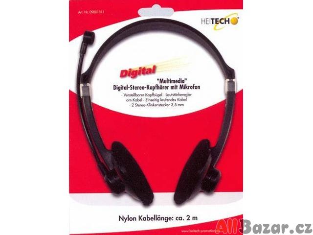 9001311 Multimediání stereo sluchátka s mikrofonem