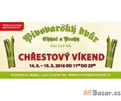 Vyhlášený Chřestový víkend - Pivovarský dvůr Chýně