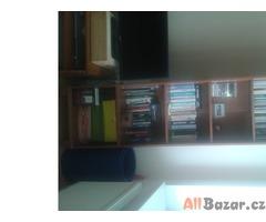 Knihovny a komoda - imitace třešně
