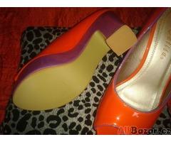 oranžovo fialové boty