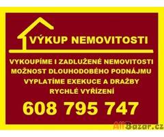Výkup zadlužených nemovitosti s možnosti dále bydlet
