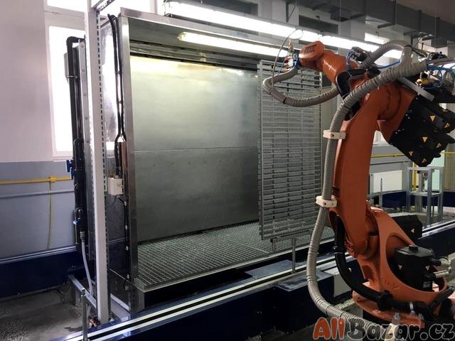 Lakovací kabina s vodní filtrací