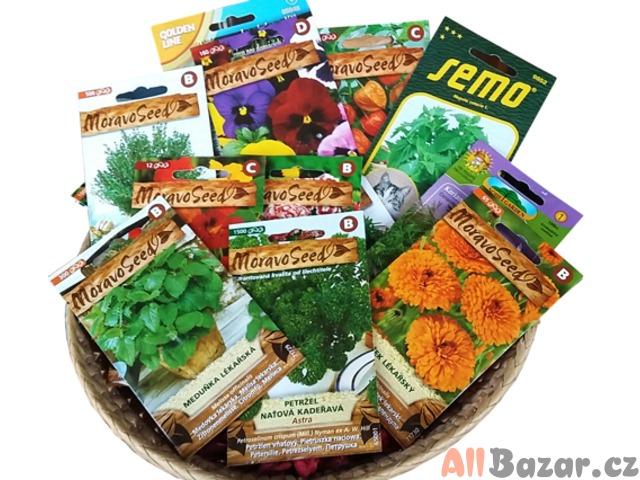 Semínka květin, zeleniny i klíčků a chilli