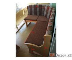 Rohová lavice s úložnými prostory-nepoužívaná