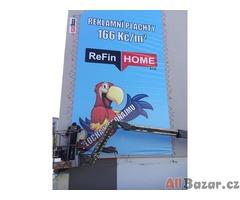 Výroba a montáž reklamy - plošiny Plzeň