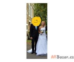 Bílé svatební šaty 36, 38