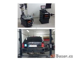 Dvousloupový zvedák 3,5T , zouvačka a vyvažovačka - automaty