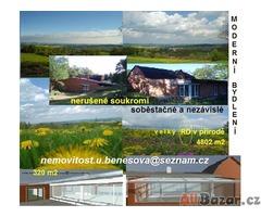 Bydlení v přírodě,RD320m2,pozemek4802m2,+bazén,klid+bus,občan.vybaven.