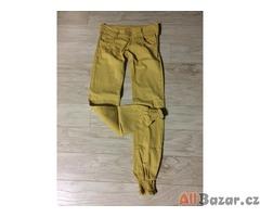 hořčicové kalhoty v.36/s