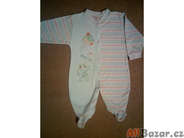 Celopropínací pyžamko - overal