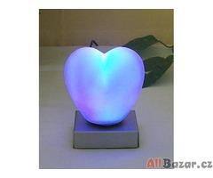 Svítící srdce - noční svítidl