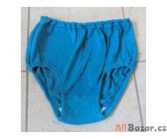 modré dámské trenýrky na cvičení