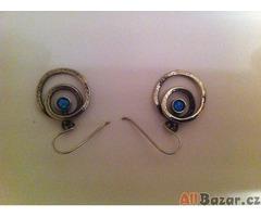 2x naušnice australský Opál