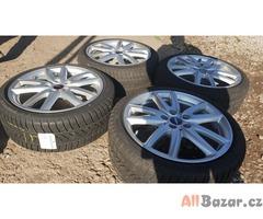 alu kola elektrony s pneu pirelli škoda Volkswagen 6875415BL 5x112 8jx18 et57 pn