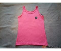 Dívčí neonové růžové tílko vel. 134