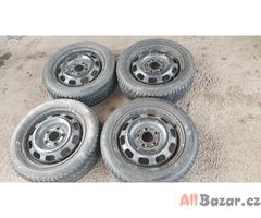 plechove disky s pneu mercedes 1684000702 5x112 5.5jx15 et54 pneu dunlop 185/55