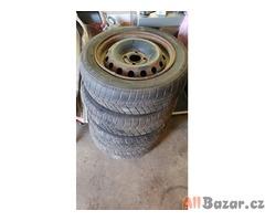 plechové disky s pneu 4x100 vw 5.5jx14 et38 pneu na vymenu 165/75 r14t za komple