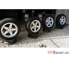 Alutec germ. 5x120 7jx15 et45 pneu 185/65 sada alu kola  r15 pneu 2x80 a 2x60%