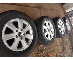 zanovni sada alu kola VW s pneu 98% 7P6601025 5x130 7.5jx17 et50 pneu Pirelli Sc