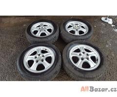 alu kola elektrony enkei Mitsubishi s pneu 90% 5x114.3 6jx16 et46 pneu 215/60 r1