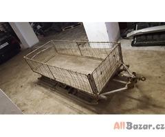 prodám levně vozík saně na sníh za skutr nebo čtyřkolku pevná konstrukce ocelové