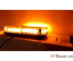 LED maják na střechu, stroboskopy 24 LED, 12V/24V, 27x16 cm oranžový