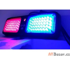 Stroboskopy na clonítko, LED maják za okno modro - červený