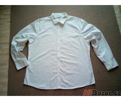 Pánská bílá košile XXXL