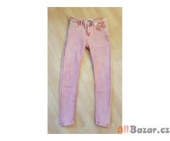 Nové růžové skinny džíny Zara vel. 38