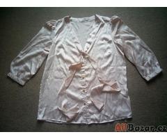 Saténová starorůžová košile