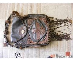 Ručně šitá,kožená taška