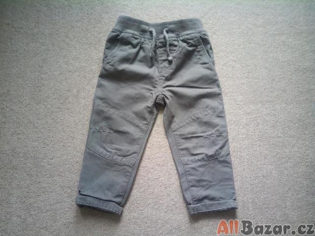 Podšité hnědě kalhoty