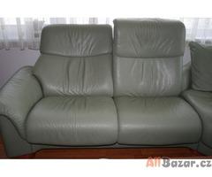 polohovací kožená rohová sedačka