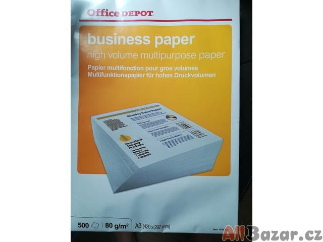 papíry a barva do tiskárny