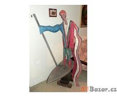 Umělecké dílo – dřevěná skulptura Převozník
