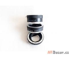 Mezikroužky pro Canon  s el. přenosem.