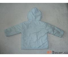 Teplá zimní bunda světle modrá