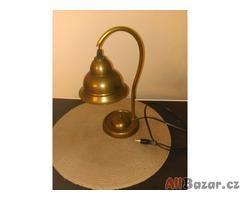 Starožitná mosazná stolní lampa ve stylu ART DECO