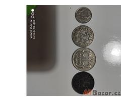 Staré bankovky a mince